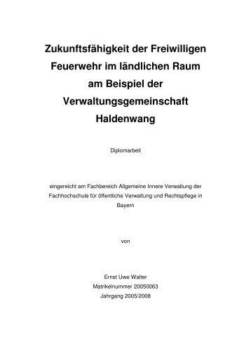 Diplomarbeit von Herrn Ernst-Uwe Walter mit dem - Home ...