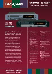Tascam CD-RW900, CD-RW-901 - Save diffusion