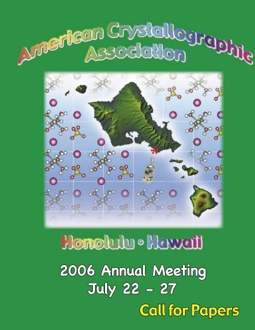 Call for Papers 2006 Annual Meeting July 22 - 27 - To Parent Directory