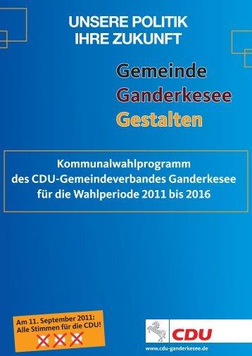 Gemeinde Ganderkesee Gestalten - CDU Ganderkesee