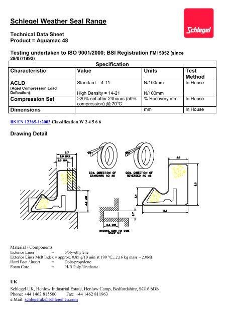 Schlegel Aquamac Q-Lon 48 Weatherseal