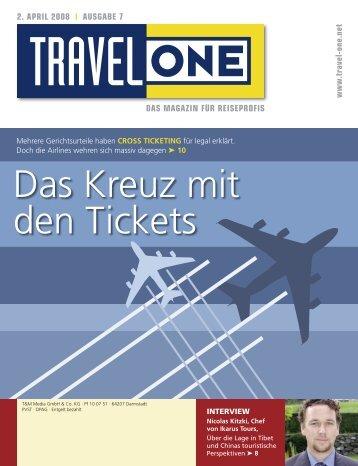 Das Kreuz mit den Tickets - Travel-One