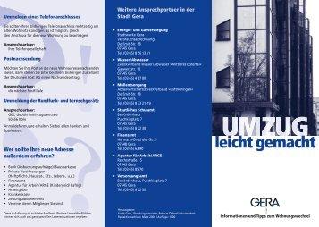 leicht gemacht - Stadt Gera