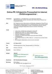 Online-PR: Erfolgreiche Pressearbeit im Internet - und ...