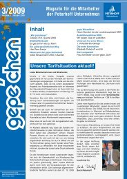 Magazin für die Mitarbeiter - gepe Gebäudedienste PETERHOFF ...