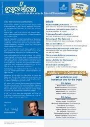 Jubilare — 3. Quartal 2012 - gepe Gebäudedienste PETERHOFF ...