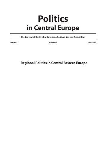 Number 1 - June - 2012 - Politics in Central Europe