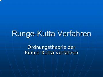 Runge-Kutta Verfahren