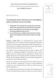 RECHTSANWALT DR. FRANC ZIMMERMANN BEYO GMBH ...