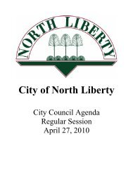 04-27-10 Packet.pdf - City of North Liberty