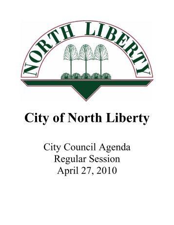 04-27-10 Packet.pdf - City of North Liberty