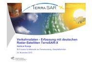 Verkehrsdaten - Erfassung mit deutschen Radar ... - GEOkomm