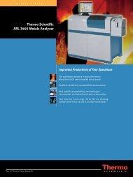 Thermo Scientific ARL 3460 Metals Analyzer - Fisher Scientific ...