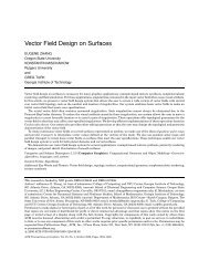 Vector Field Design on Surfaces - College of Engineering - Oregon ...