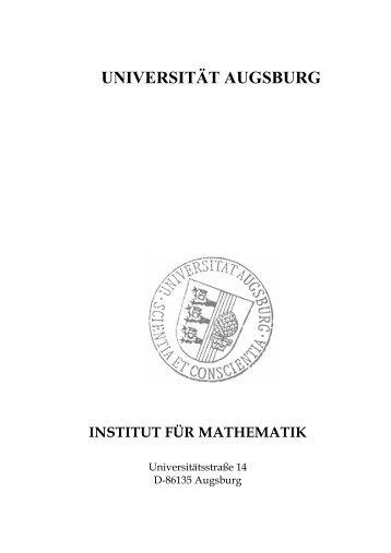 Jahresbericht 2007 - OPUS Augsburg - Universität Augsburg