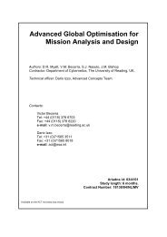 Advanced Global Optimisation for Mission Analysis and Design - ESA