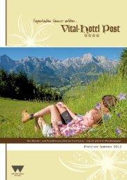 Sommerbroschüre Vital-Hotel Post 2012