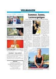 Sommer, Sonne, Lernvergnügen - VHS Dortmund