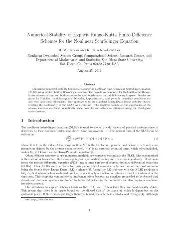 Numerical Stability of Explicit Runge-Kutta Finite ... - Rohan - SDSU