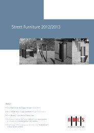 Street Furniture 2012/2013 - Urban Effects