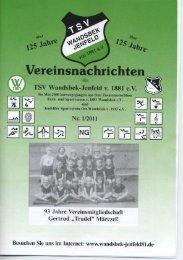 Ausgabe 1 / 2011 - TSV Wandsbek-Jenfeld, Supersenioren