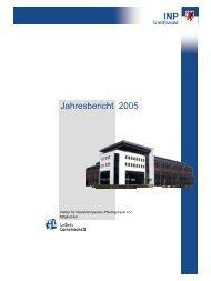 Jahresbericht 2005 - Institut für Niedertemperatur-Plasmaphysik ...