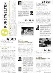 22–26/11 - Akademie der Künste