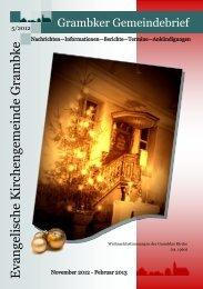 Gemeindebrief - November 2012 - Februar 2013 - Startseite – Ev ...