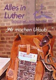 Ausgabe 2 - 2007 Juni-September 07 - Zur Luthergemeinde