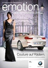 Couture auf Rädern. - BMW Niederlassung Mannheim