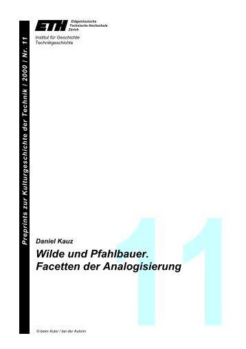 Wilde und Pfahlbauer. Facetten der Analogisierung - ETH ...