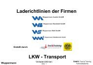 Laderichtlinien der Firmen LKW - Transport