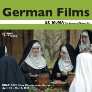 MoMA 2010 - German Cinema
