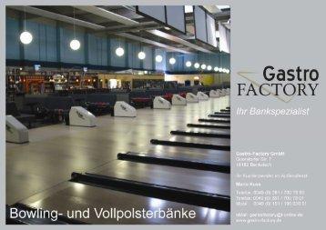 Ganzseitiger Faxausdruck - Gastro Factory Rostock