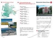 Leistungskatalog des DRK-Kreisverband Rügen e.V.