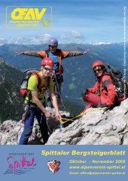 Spittaler Bergsteigerblatt Oktober - Alpenverein Spittal/Drau