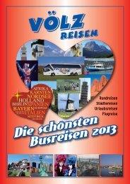 Katalog 2013 als PDF - Völz - Reisen