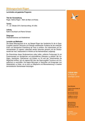 Programm Ruegen 2010 - forum unna