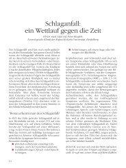 Schlaganfall: ein Wettlauf gegen die Zeit - Deutsche Herzstiftung eV