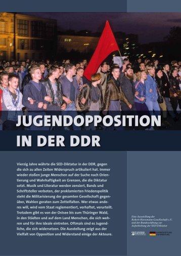Vierzig Jahre währte die SED-Diktatur in der DDR, gegen die sich ...
