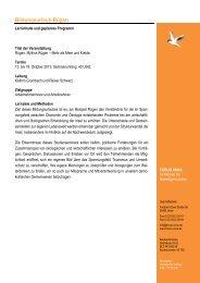 Geplanter Programmablauf Bildungsurlaub Rügen 2013... - forum unna