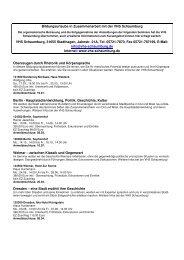 Bildungsurlaube mit der VHS Schaumburg download pdf