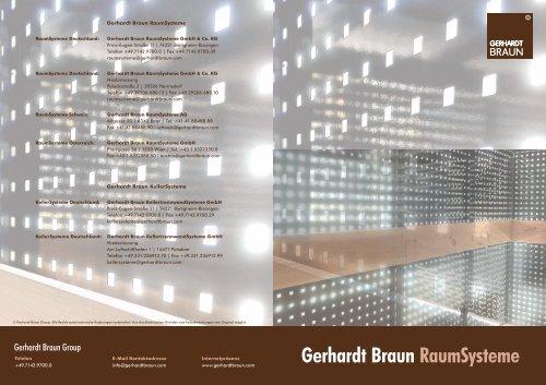 Gerhardt Braun RaumSysteme GmbH & Co. KG