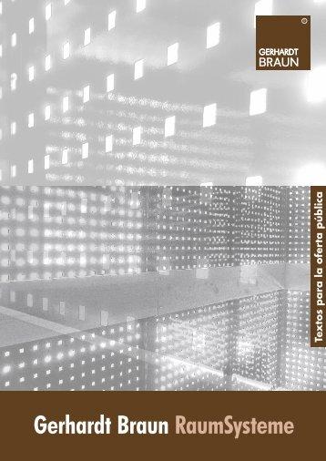 Textos para la oferta pública - Gerhardt Braun RaumSysteme GmbH ...