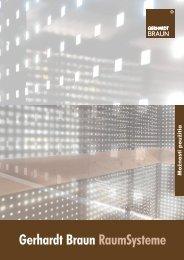 Možnosti použitia - Gerhardt Braun RaumSysteme GmbH & Co. KG