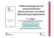 Differentialdiagnose der unterschiedlichen ... - Geriatrie