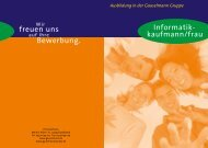 Bewerbung. freuen uns Informatik- kaufmann/frau - Gauselmann AG