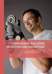 HandscHuHe aus Leder, MIcrOTHan und MacrOTHan - Germanex.de