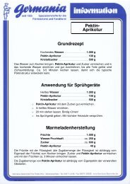 Pektin - Germania Backmittel