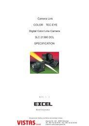 Camera Link COLOR TEC EYE Digital Color Line ... - Vistas GmbH